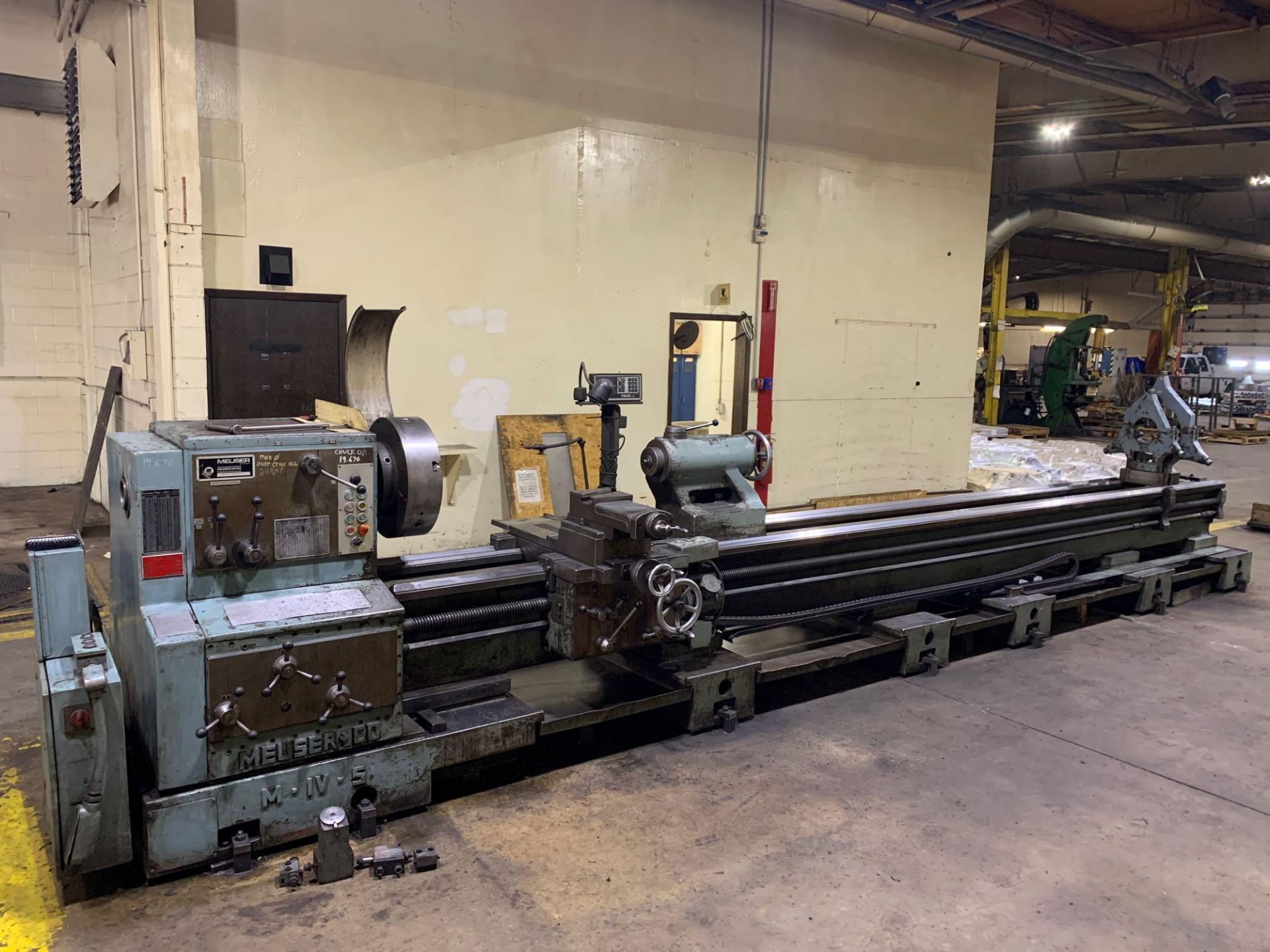 """Meuser Heavy Duty Gap Bed Engine Lathe Model: M IV S Serial Number: 45377 Rated Capacity:32""""/45"""" x - Image 2 of 35"""