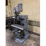 """Bridgeport 2J Vertical Milling Machine Variable Speed Head S/N 132833 CAPACITIES Table size: 9"""" X 42"""
