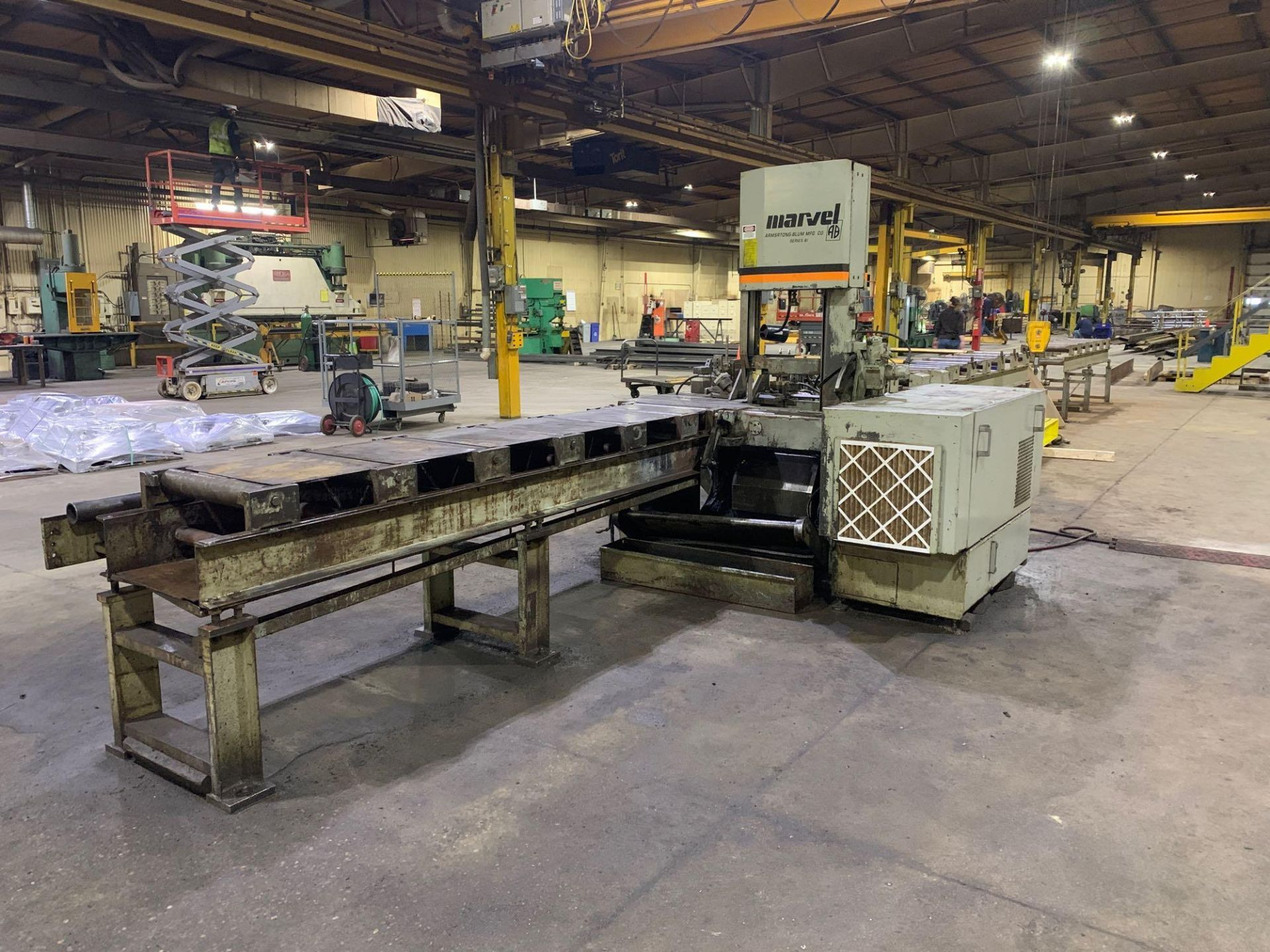 """Marvel Armstrong Blum Automatic Universal Band Saw Model 81A11PC Rated Capacity 18"""" x 20"""" Serial No. - Image 8 of 30"""
