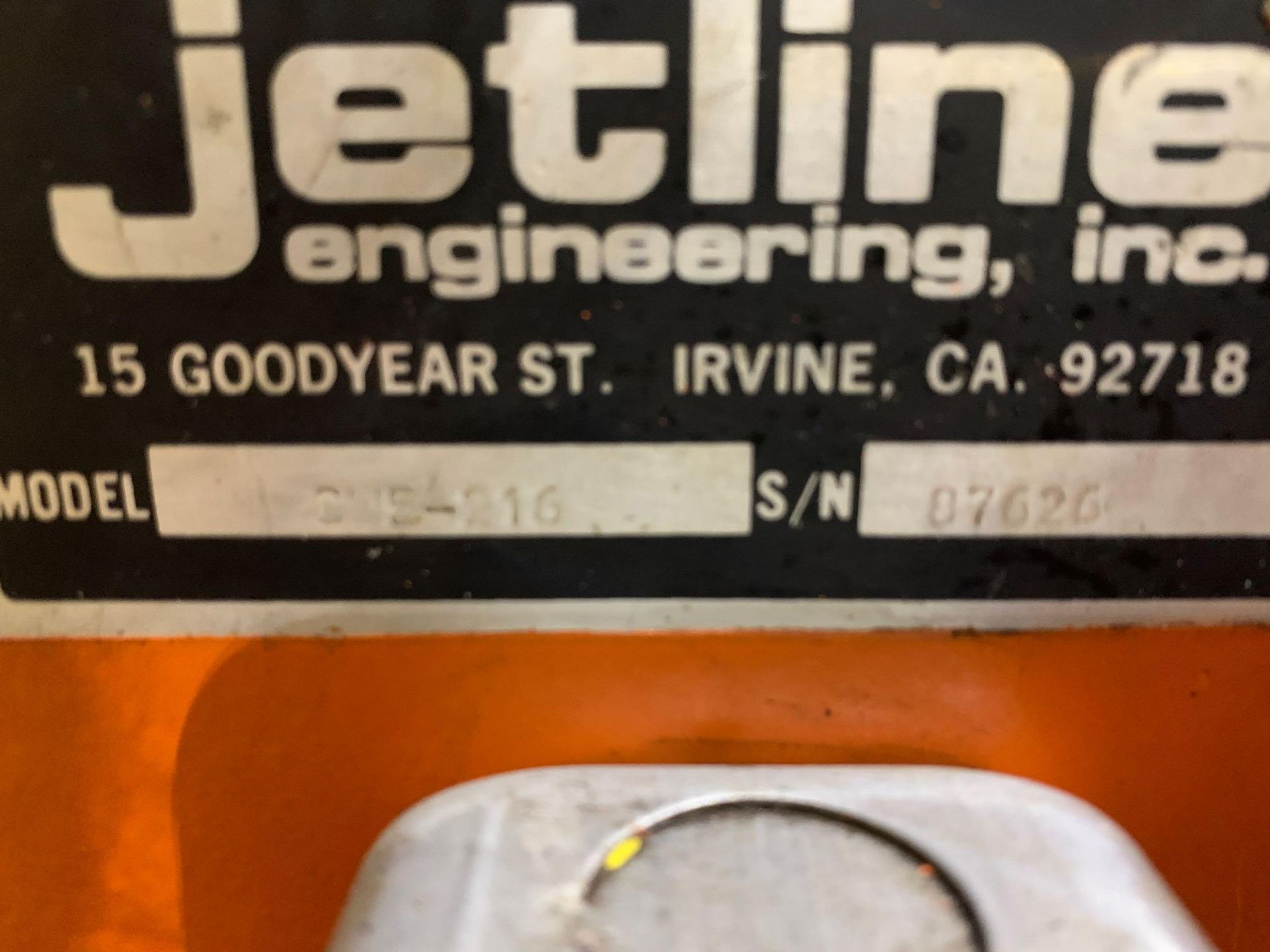 Jetline Welding Positioner Model CU5-216 Serial Number: 07625 Pipe Weld Positioner with Tail Stock I - Image 15 of 15