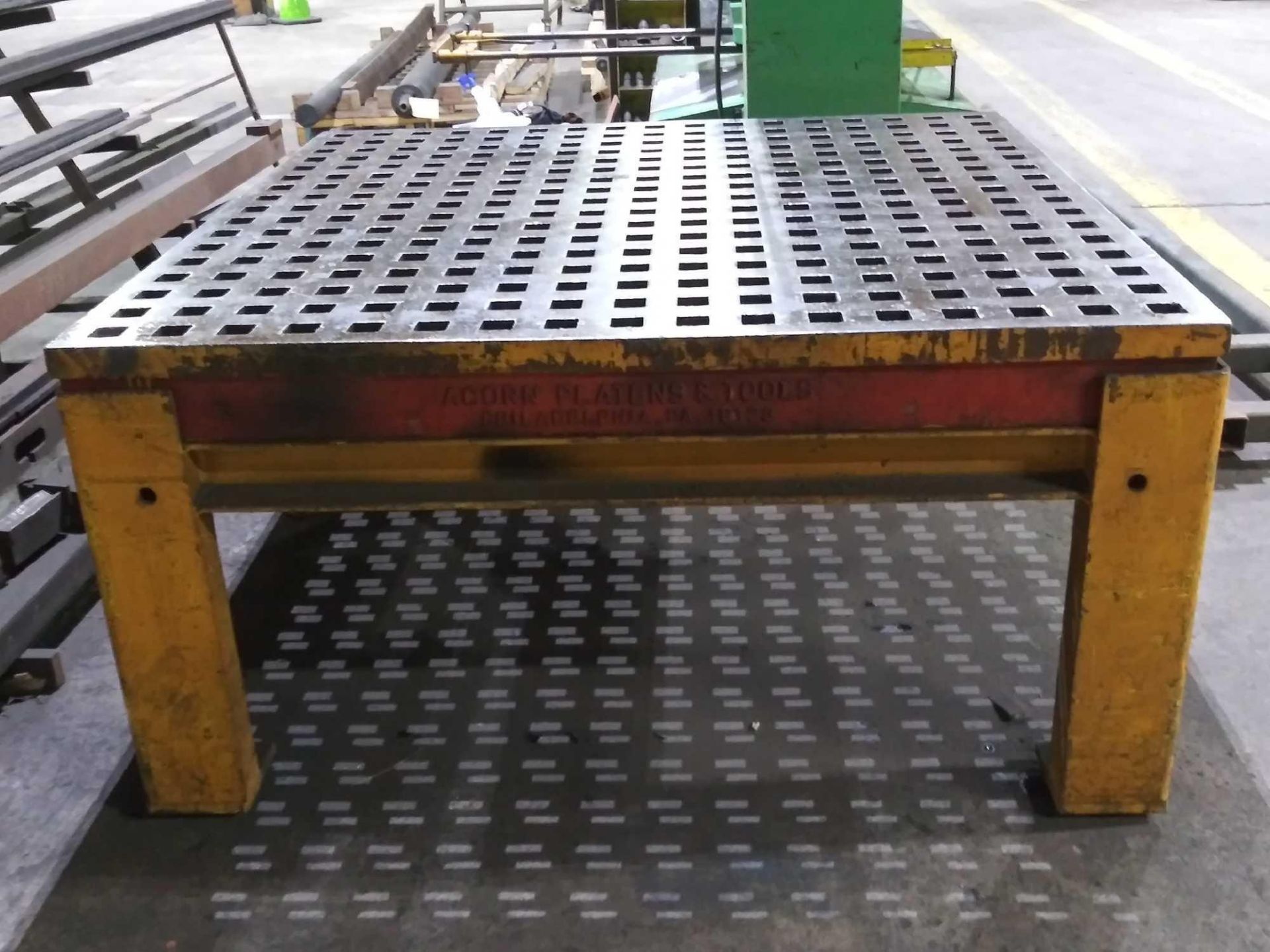 """Acorn Platens & Tools Welding Table, 60""""x60""""x30"""", square hole dimensions 1-3/4"""", inv1080 - Image 4 of 15"""