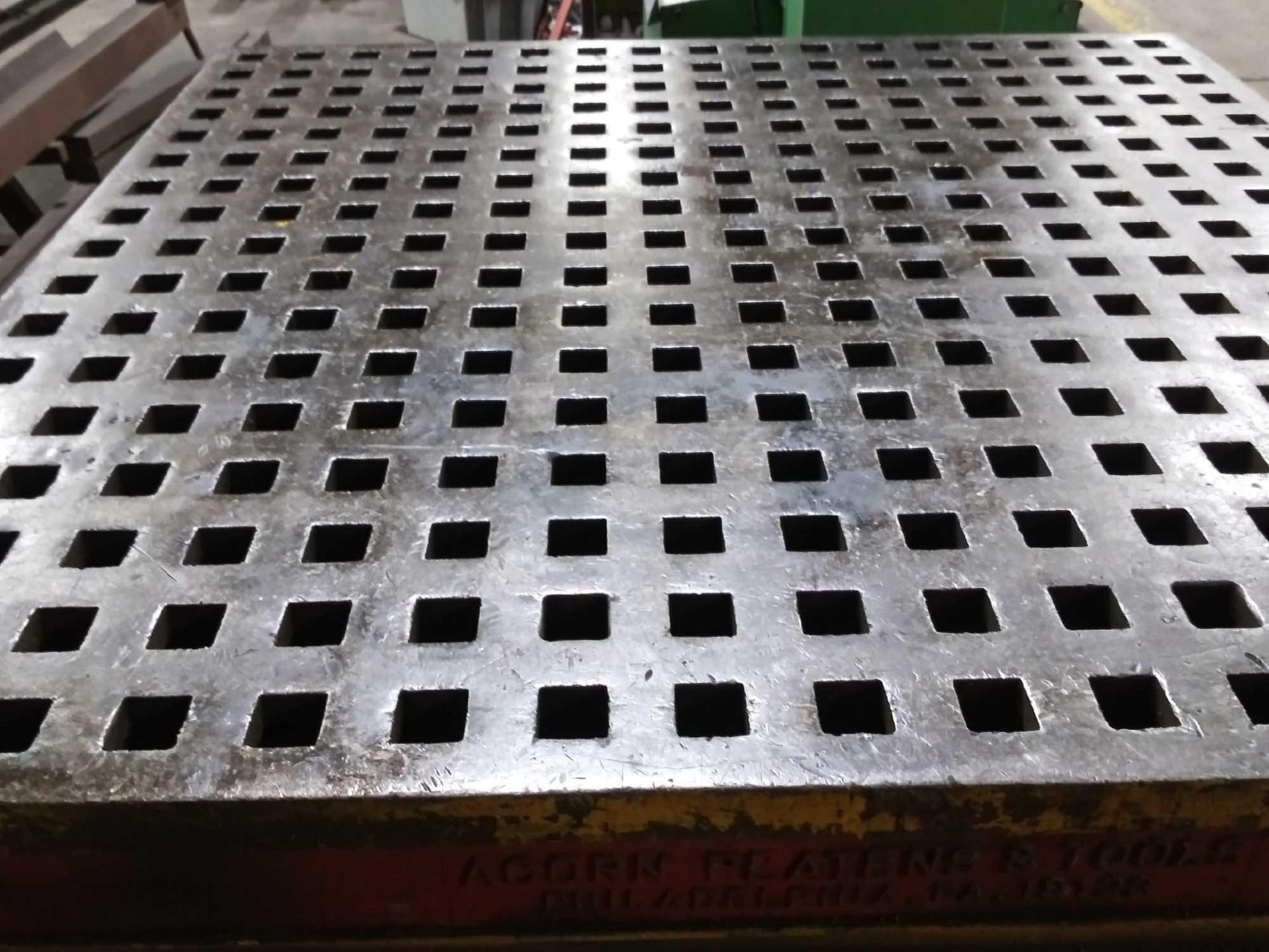 """Acorn Platens & Tools Welding Table, 60""""x60""""x30"""", square hole dimensions 1-3/4"""", inv1080 - Image 8 of 15"""