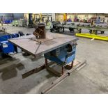 "Welding Positioner DRWG no. HD30-6A-115 Serial no. 79112 48"" x 48"" x 2"" table 480V 3-phase Overall d"
