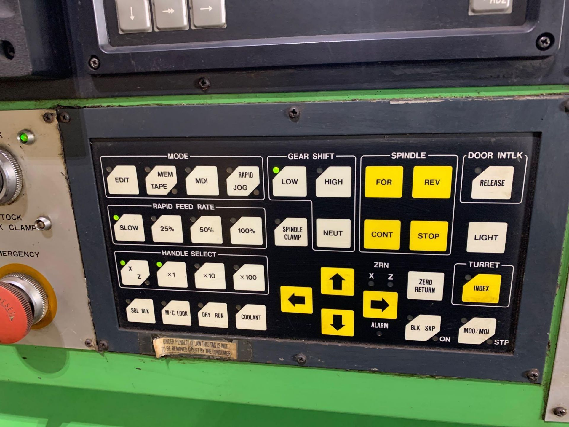 IKEGAI AX-15Z CNC Slant Bed Turning Center Serial Number: 50130V 2-Axis Machine Fanuc 10T Control 12 - Image 9 of 18