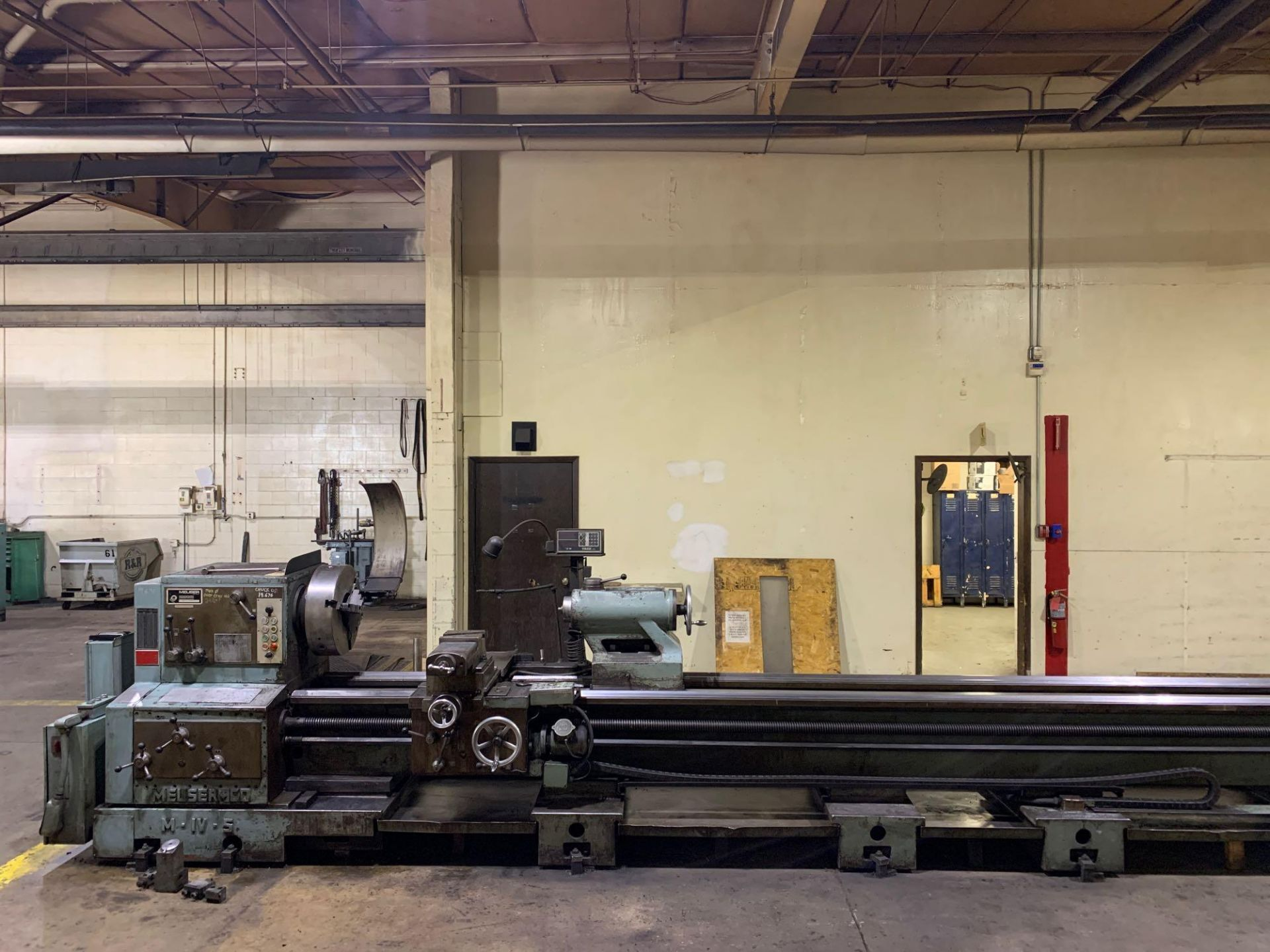 """Meuser Heavy Duty Gap Bed Engine Lathe Model: M IV S Serial Number: 45377 Rated Capacity:32""""/45"""" x - Image 3 of 35"""