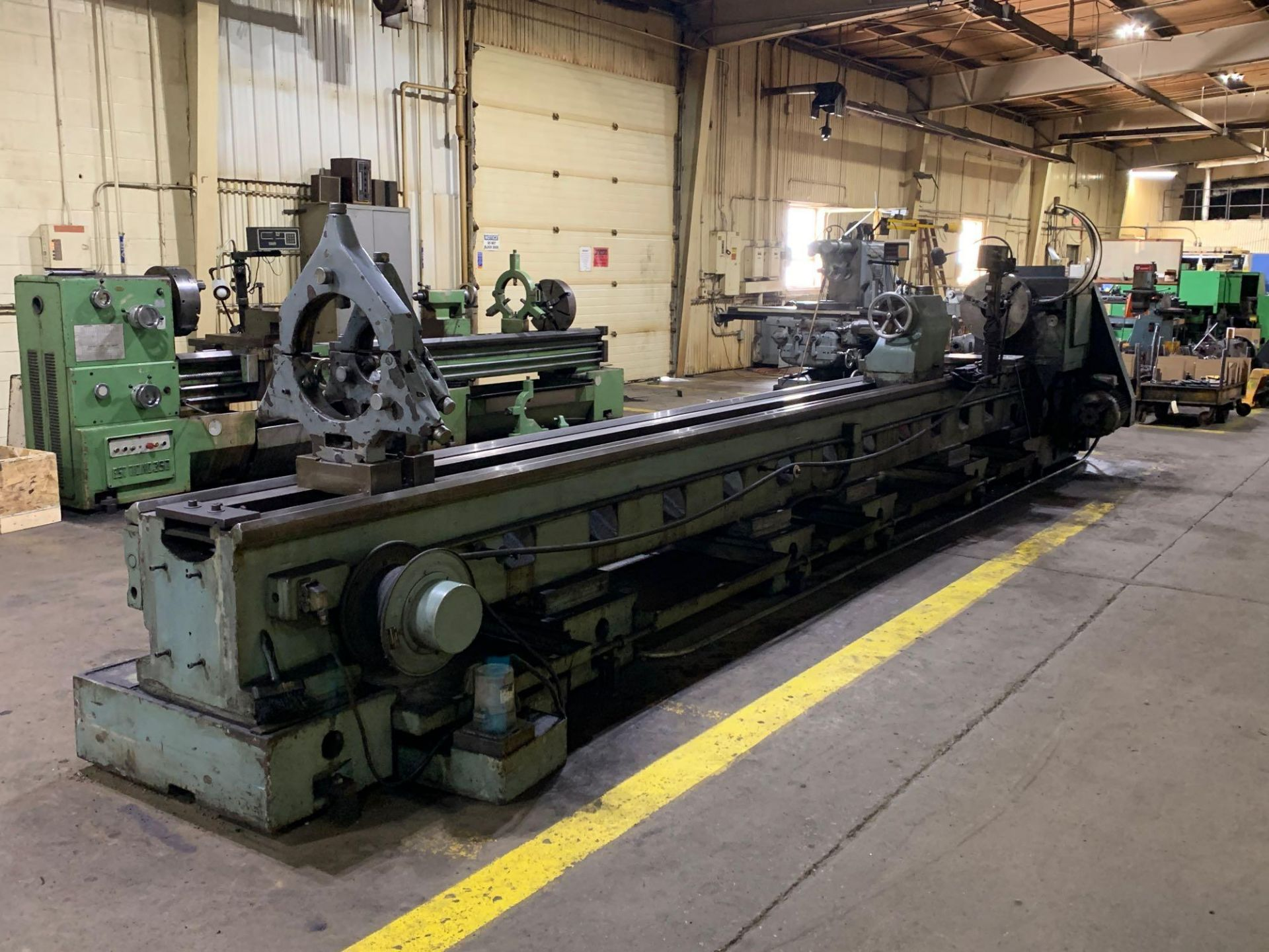 """Meuser Heavy Duty Gap Bed Engine Lathe Model: M IV S Serial Number: 45377 Rated Capacity:32""""/45"""" x - Image 5 of 35"""