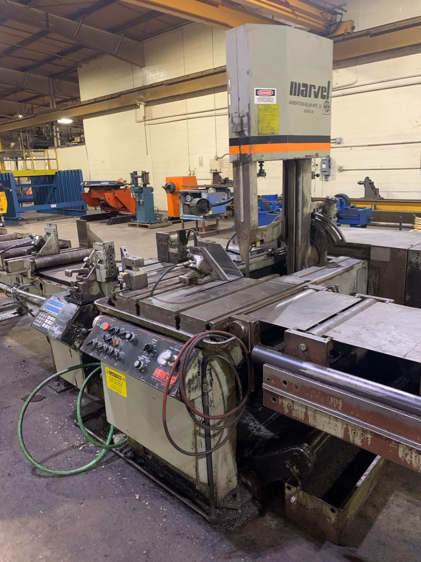"""Marvel Armstrong Blum Automatic Universal Band Saw Model 81A11PC Rated Capacity 18"""" x 20"""" Serial No. - Image 18 of 30"""