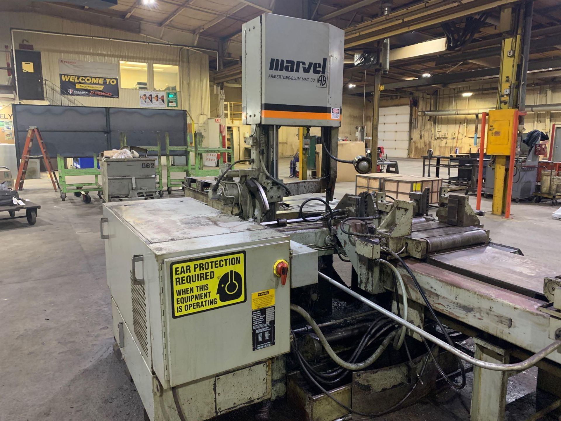"""Marvel Armstrong Blum Automatic Universal Band Saw Model 81A11PC Rated Capacity 18"""" x 20"""" Serial No. - Image 12 of 30"""