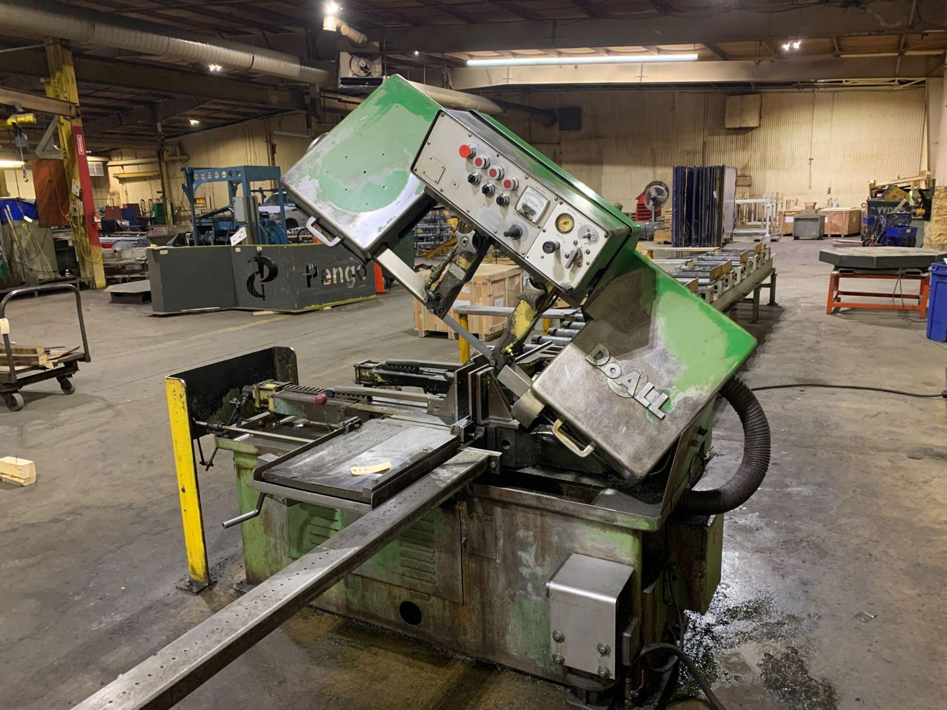 DoAllSemi-Automatic Horizontal Band Saw Model: C-1213a s/n: 412-84212 made in the usa capacity: rec