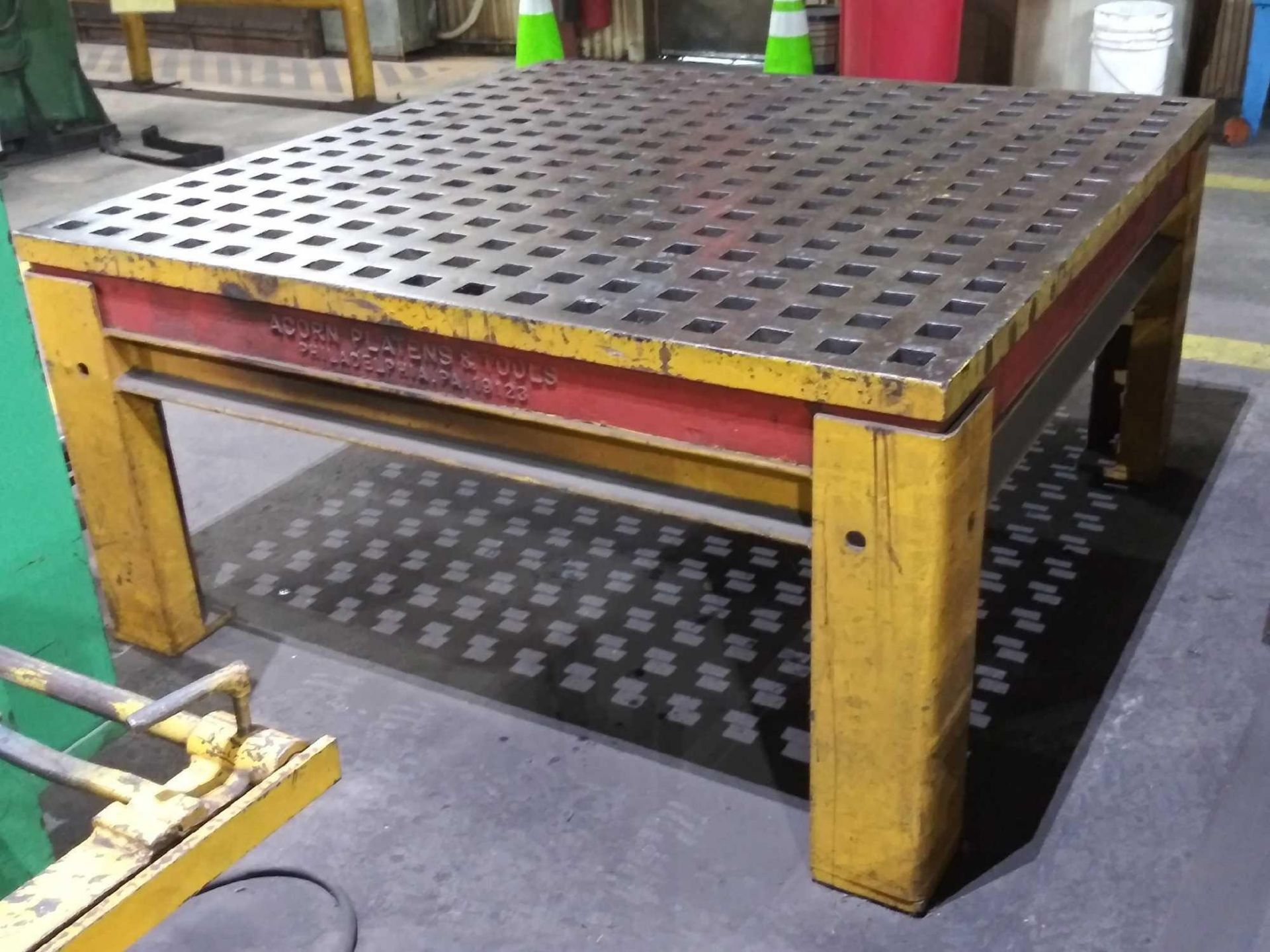 """Acorn Platens & Tools Welding Table, 60""""x60""""x30"""", square hole dimensions 1-3/4"""", inv1080 - Image 5 of 15"""