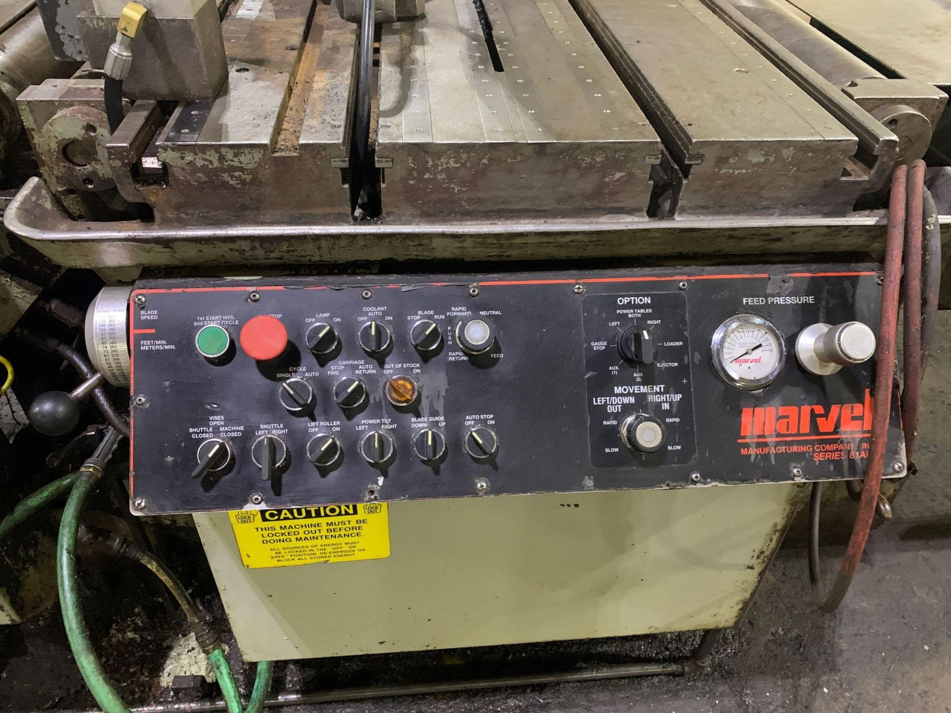 """Marvel Armstrong Blum Automatic Universal Band Saw Model 81A11PC Rated Capacity 18"""" x 20"""" Serial No. - Image 23 of 30"""