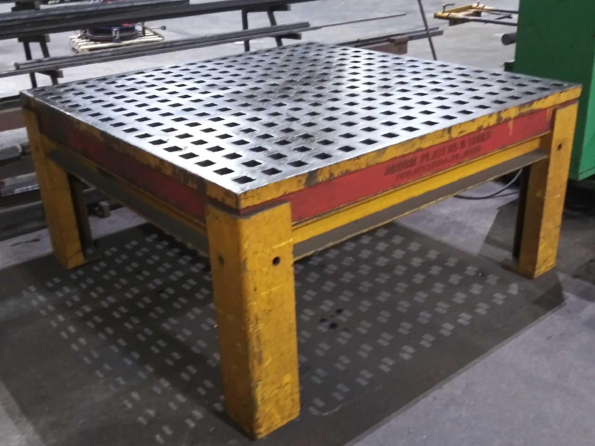 """Acorn Platens & Tools Welding Table, 60""""x60""""x30"""", square hole dimensions 1-3/4"""", inv1080 - Image 3 of 15"""