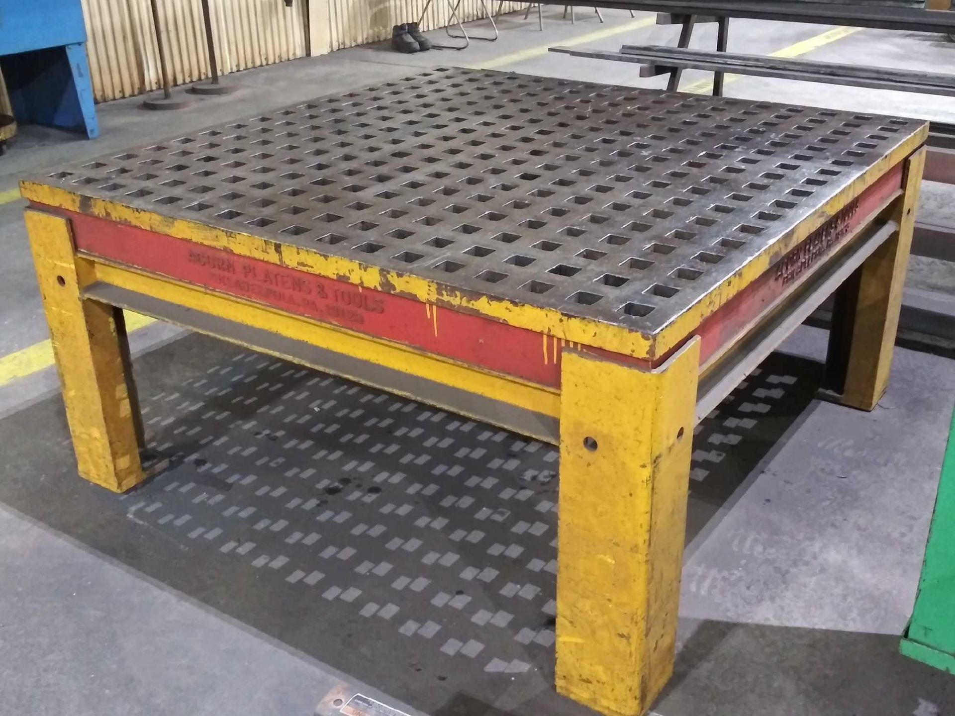 """Acorn Platens & Tools Welding Table, 60""""x60""""x30"""", square hole dimensions 1-3/4"""", inv1080"""