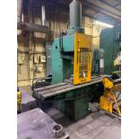 """50 Ton Hydraulic Straightening Press Bed Size 7' x 21"""" 20"""" Stroke Foot Pedal Control Dims: 6' x 7' x"""