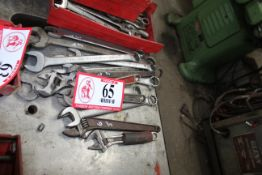 Various Wrenches, Crescent Wrenches, Open End & Boxed End Wrenches