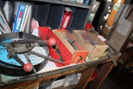Box Stapler, Banding Material w/ Tooling, Clips, Screw Drivers, Etc.