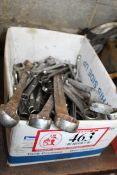 Contents of Box- Misc. Sized Boxed End/ Open End Wrenches