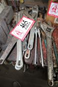 Various Sized Pipe Wrenches, Crescent Wrenches