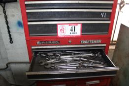 Kennedy & Craftsman Tool Boxes & Contents: Wrenches, Plyers, Metal Stencils, Sockets, Etc.