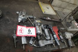 Various Pneumatic Tools - (2) Impact Wrenches (2) 3/8 Pneumatic Ratchets, Grinders, Etc.