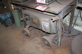 (2) Custom Built Heavy Duty Metal Welding Tables & H & H Arc Welder
