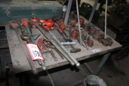 Pipe Ratchets, Pipe Dies, Pipe Bender and (2) Pipe Rollers