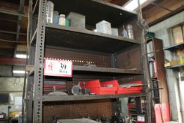 Contents of Cabinet: Various Tool Holders, Oils, Paints, Etc.