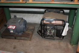 Contents of Bottom Shelf- Electric Motor on Pallet & Generator for parts *Taxable