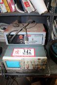 Tektronix 2215A Oscilloscope & 4 Test Gauges
