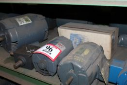 (12) Electric Motors -Various Size 1/2hp-5hp and (1) Gear Reducer *Taxable