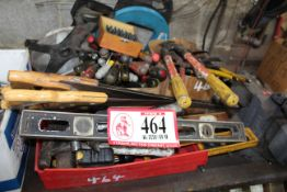 Misc. Hand Tools, Screw Drivers, Hammers, Plyers, Etc.