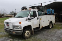 2004 GMC C5500 w/ Service Bed, Duramax Diesel, Automatic, ODO Showing 52,088, Service Bed has gas