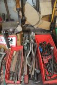 Misc. Hand Tools, Screw Drivers, Files, Allen Wrenches, Pry Bars, Chisels, Etc.