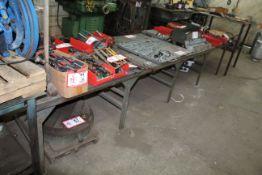 "146"" x 38"" Custom Built Metal Work Table"