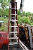 8' Fiberglass Step Ladder & pieces of a 10' Extension Ladder