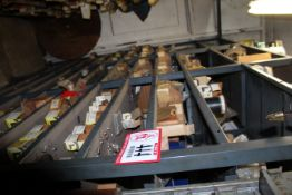 Contents of (9) Sections of Shelving- Hose Clamps, O-Rings, Socket & Cap Screws, Wire Nuts,