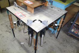 Pneumatic Silk Screen Setup Table