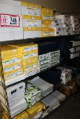Rack & Contents: Various Copier Paper, Printer Paper, Etc.
