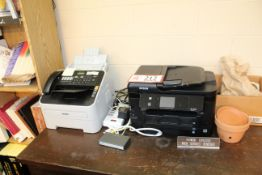 Epson Desktop Copier/ Printer and (2) Brother Fax Machines