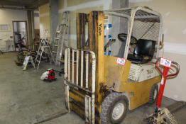 """Yale 3000lb Capacity, 156"""" Lift, Gas Engine, Pneumatic Tired Forklift"""