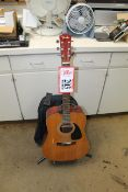 Fender DG8 Acoustic Guitar, Natural Finish w/ Stand & Case