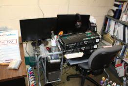 Roland Digital Group Camm-1 Desktop Sign Maker, Vinyl Cutter w/ Dell Computer w/ (2) Monitors,