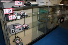 (2) Glass Front, Glass Side Display Cabinets