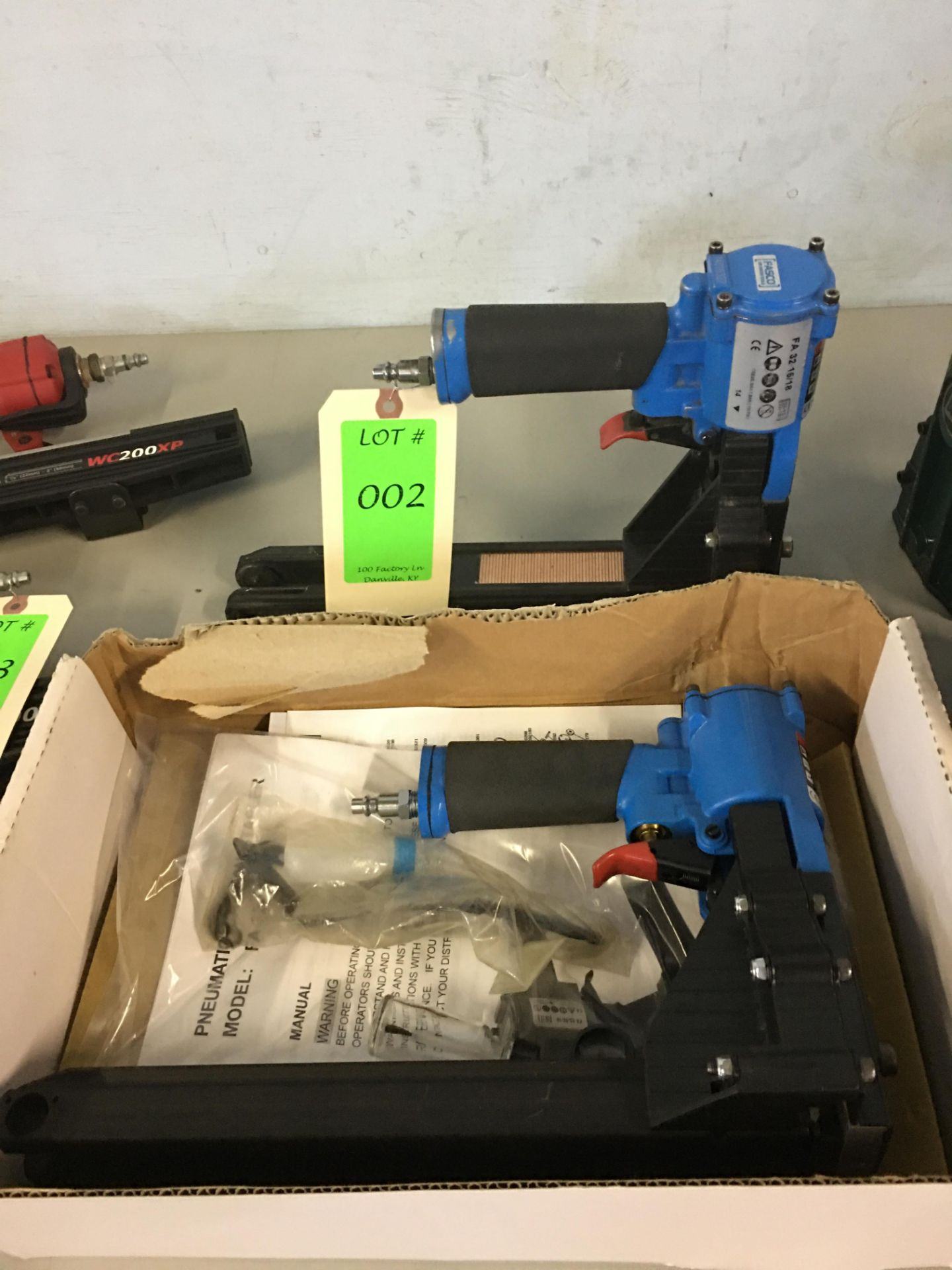 Two Fasco Pneumatic Staplers