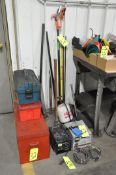 Lot-Portable Tool Boxes, APA 24-Volt Battery Charger, and (1) AMP