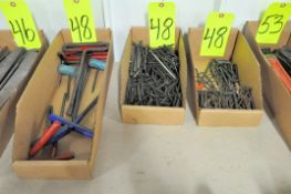 Lot-T Handle Allen Wrenches and Small Allen Wrenches in (3) Boxes