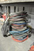 Lot-Various Air Hoses and Hose Reels Under (1) Bench