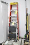 Lot-(1) Werner 6' Fiberglass Step Ladder and (1) 2-Step