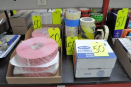 Lot-Tamper Evident Tape, Various Tapes, and Krylon Paint Cans in (4) Boxes