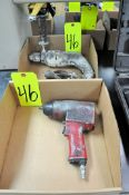 "Lot-(1) CP 1/2"" Pneumatic Impact Gun and (2) 1/2"" Electric Drills in (2) Boxes and (1) Case"